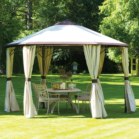 Bracken Outdoors Denver 6 Sided Gazebo - Taupe/Anthracite