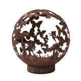 Garden Fire Ball 50cm Fairy Design with Rust Finish