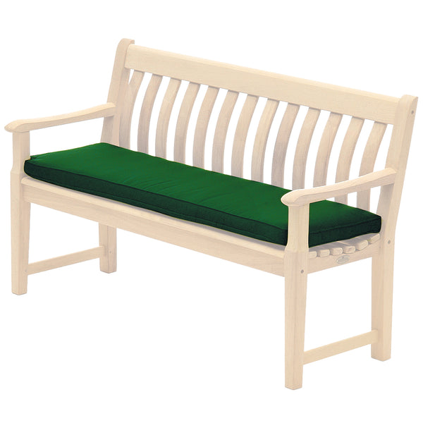 Alexander Rose Olefin 4ft (1.2m) Bench Cushion Green