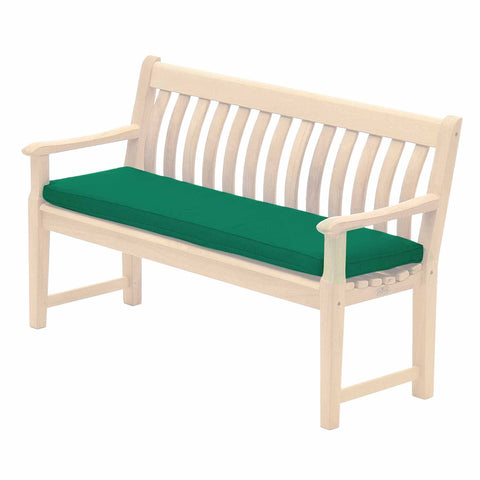 Alexander Rose Polyester 4ft (1.2m) Bench Cushion Green