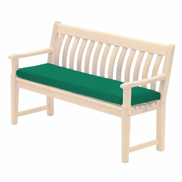 Alexander Rose Polyester 5ft (1.5m) Bench Cushion Green