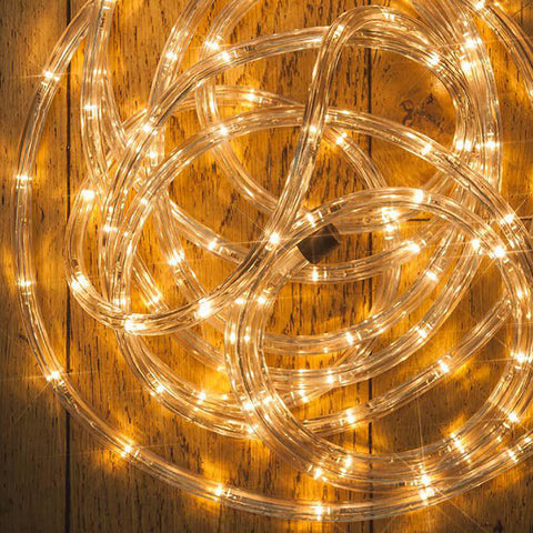 Warm White Multi Function LED 10mm Rope Light with Timer