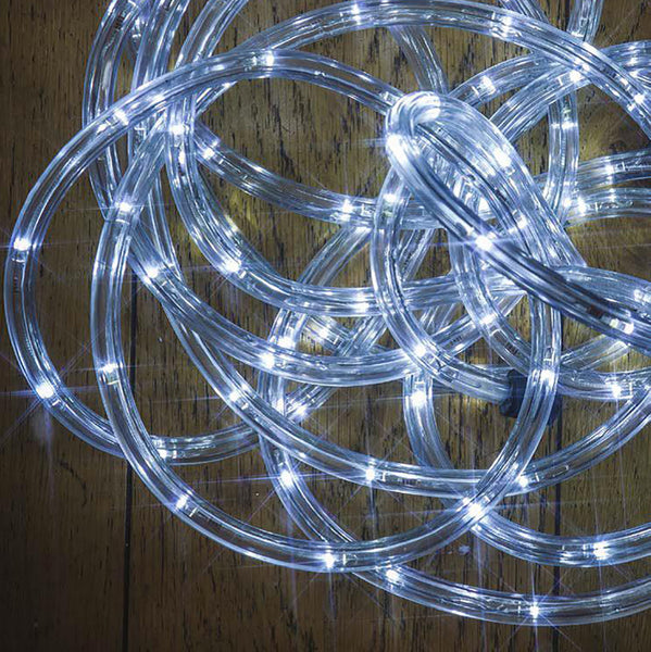 White Multi Function LED 10mm Rope Light with Timer