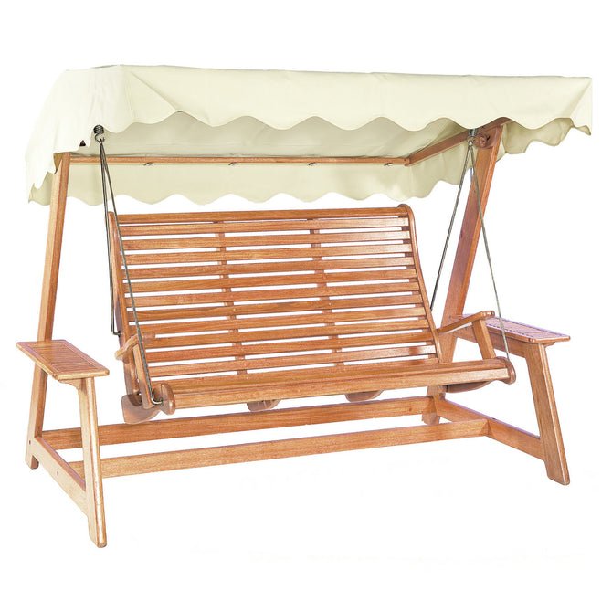 Alexander Rose Sussex Mahogany Swing Seat - Ecru