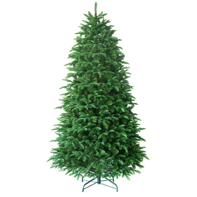 Noma Harlech Spruce Christmas Tree with PE & PVC Tips and Metal Stand - 6ft, 7ft
