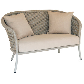 Alexander Rose Cordial Curved Top Lounge Sofa Beige