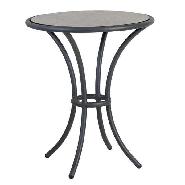 Alexander Rose Cordial Grey Bistro Table with Pebble Laminate Top