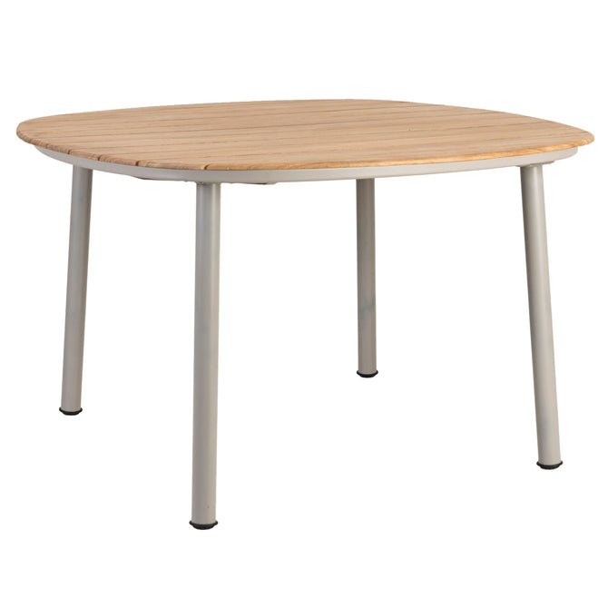 Alexander Rose Cordial Beige Shaped Dining Table with Roble Top - 1.2m