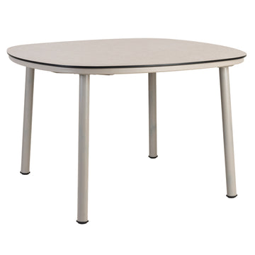 Alexander Rose Cordial Beige Shaped Dining Table with Sand Laminate Top - 1.2m