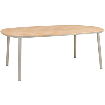 Alexander Rose Cordial Beige Shaped Dining Table with Roble Top - 2m x 1.2m