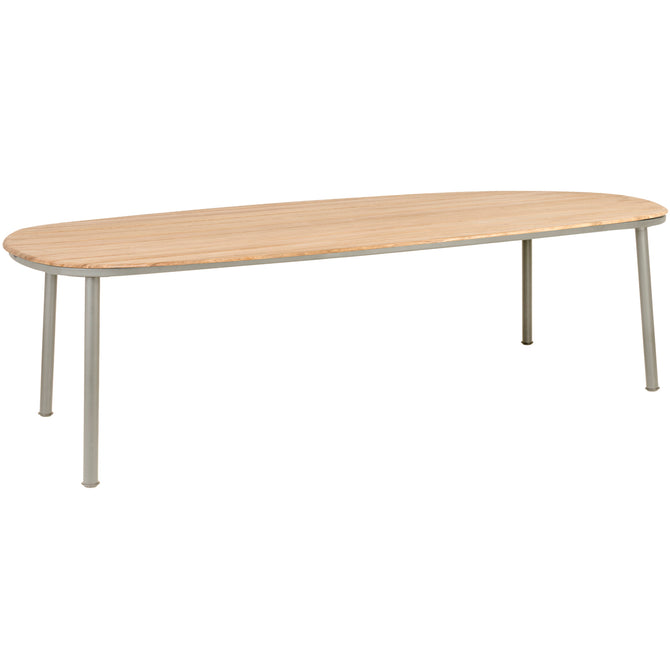 Alexander Rose Cordial Beige Shaped Dining Table with Roble Top - 2.6m x 1.2m