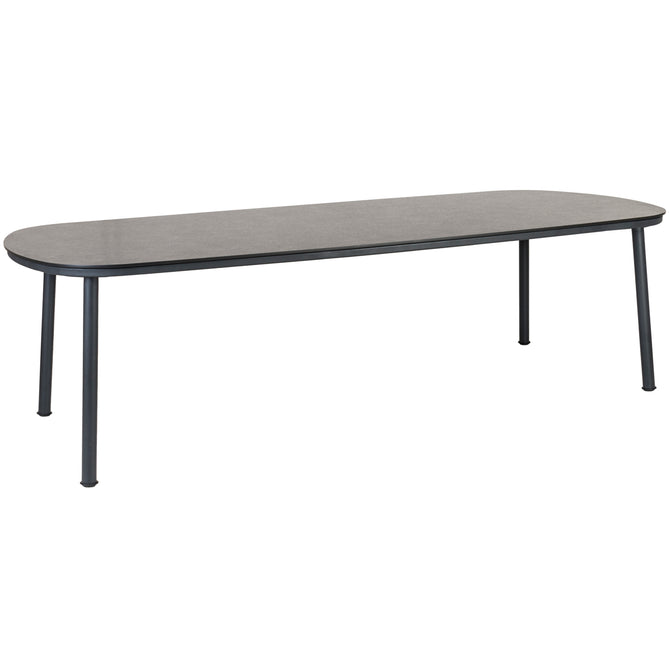 Alexander Rose Cordial Grey Shaped Dining Table with Pebble Laminate Top - 2.6m x 1.2m