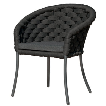 Alexander Rose Cordial Luxe Outdoor Dining Chair with Cushion - Dark Grey