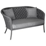 Alexander Rose Cordial Wide Rope 2 Seater Sofa Grey