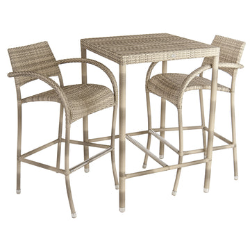 Alexander Rose Ocean Pearl Fiji 2 Seater Bar Set
