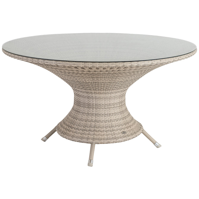 Alexander Rose Ocean Pearl Round Table 1.3m with Glass