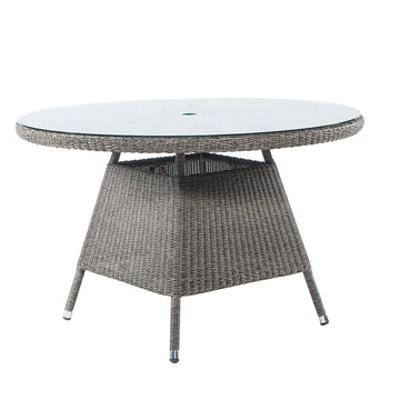 Alexander Rose Monte Carlo Round Glass Top Table 1.2m