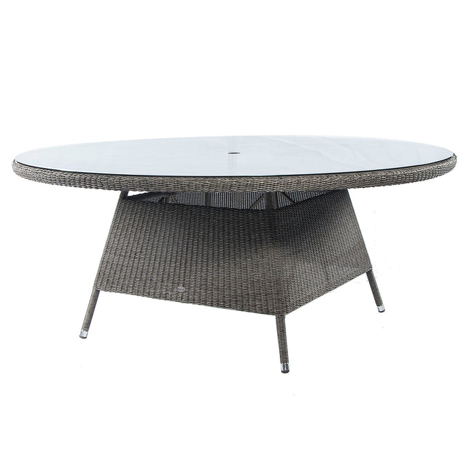 Alexander Rose Monte Carlo Round Glass Top Table 1.8m
