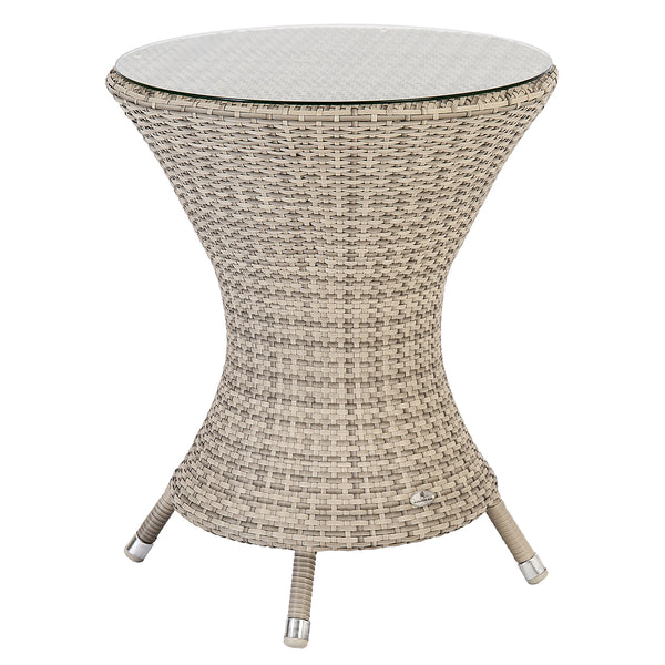 Alexander Rose Ocean Pearl Wave Bistro Table with Glass