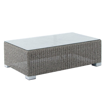 Alexander Rose Monte Carlo Rectangular Coffee Table with Glass