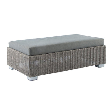 Alexander Rose Monte Carlo Ottoman with Cushion Grey