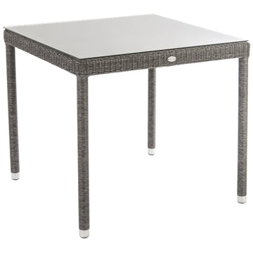 Alexander Rose Monte Carlo Square Glass Top Table 80cm x 80cm