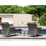 Alexander Rose Monte Carlo Relax Sunlounger with Grey Cushion