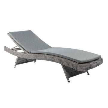 Alexander Rose Monte Carlo Folding Sunbed with Cushion Grey