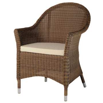 Alexander Rose San Marino Curved Top  Armchair with Cushion