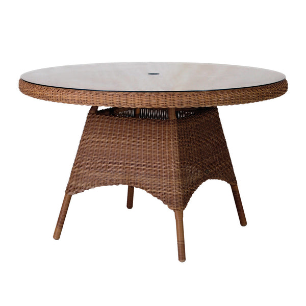 Alexander Rose San Marino Round Glass Top Table 1.2m