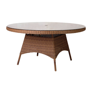 Alexander Rose San Marino Round Glass Top Table 1.5m