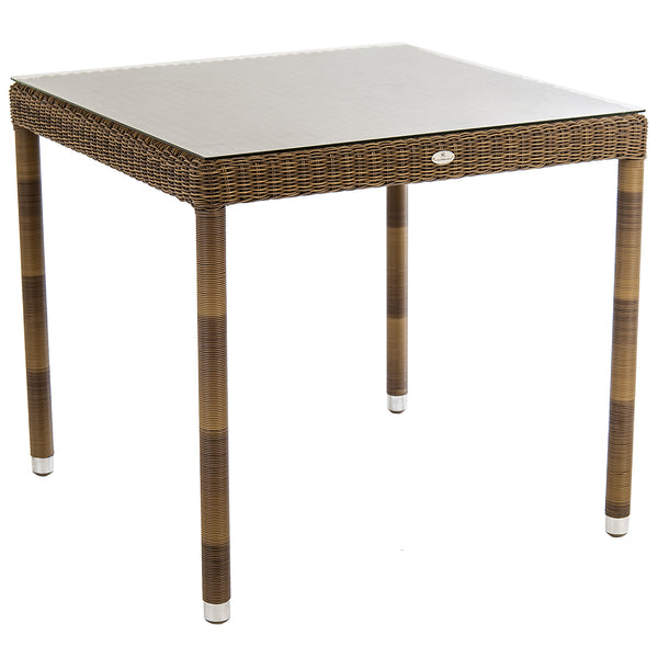 Alexander Rose San Marino Square Glass Top Table 80cm x 80cm