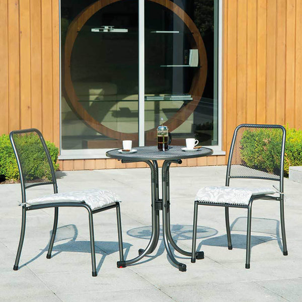 Alexander Rose Portofino Bistro 2 Seater Side Chair Round Set with Cushions