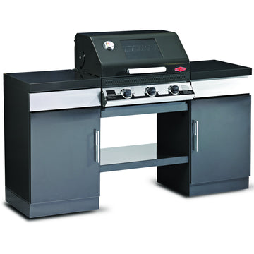 BeefEater Outdoor Kitchen with 3 Burner Discovery 1100E Series Gas Barbecue