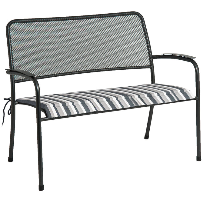 Alexander Rose Portofino Bench Cushion Charcoal Stripe