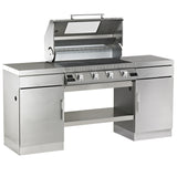 BeefEater Outdoor Kitchen with 4 Burner Discovery 1100S Series Gas Barbecue