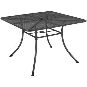 Alexander Rose Portofino Metal Square Garden Table 1.1m