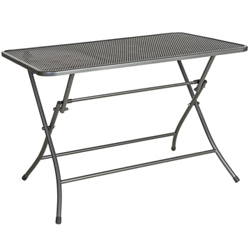 Alexander Rose Portofino Metal Folding Rectangular Garden Table 1.1m x 0.7m