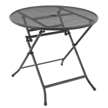 Alexander Rose Portofino Metal Folding Round Garden Table 0.8m