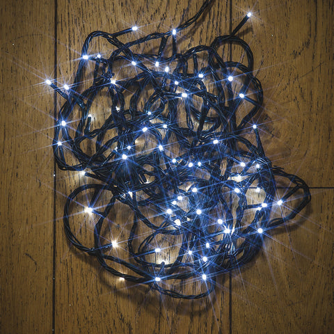 80, 140, 180, 240, 600 Multifunction LED Lights with Green cable - Bright White