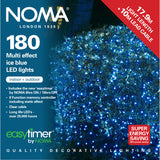 180, 240 Multifunction LED Lights with Clear Cable - Ice Blue