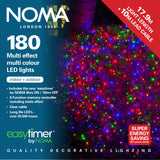 Noma 120, 180, 240 Multifunction LED Lights with Clear Cable - Multicoloured