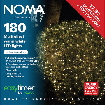 Noma 120, 180, 240 Multifunction LED Lights with Clear Cable - Warm White