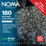 Noma 120, 180, 240 Multifunction LED Lights with Clear Cable - White