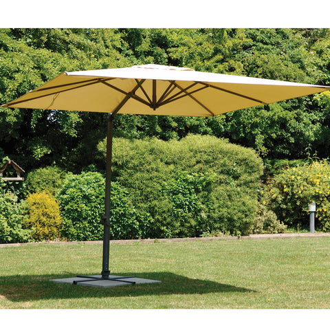 Bracken Outdoors Norfolk Square 3m x 3m Square Cantilever Parasol