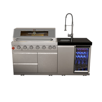 Draco Grills Z640 6 Burner Barbecue with Sink & Fridge unit