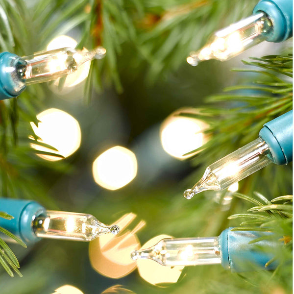 40, 80, 120, 160, 240 Classic Clear Mini Lights with Green Cable