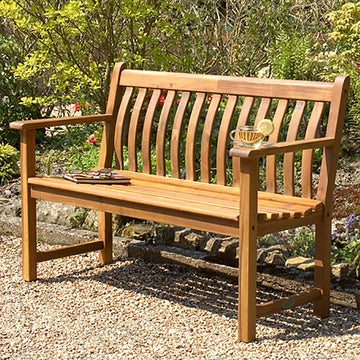 Alexander Rose Acacia Broadfield Wooden Bench 4ft (1.2m)