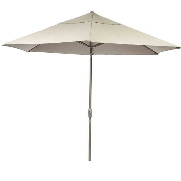 Bracken Outdoors Soleil Beige 2.2m Crank and Tilt 34mm Graphite Pole Round Garden Parasol