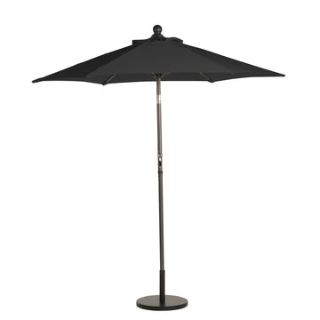 Bracken Outdoors Black 2.2m Crank and Tilt 34mm Graphite Pole Round Garden Parasol